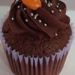 Cupcakes con mousse de chocolate naranja