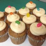 Cupcakes de zanahoria con nueces