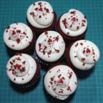 Cupcakes red velvet con crema