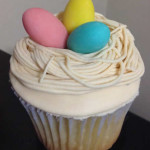 Cupcakes tematica nido de huevos
