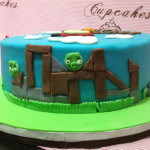 Torta angry birds decorada