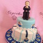 Tortas de bautizo crema