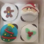 Capcakes tematica navidad regalo