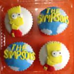 Cupcakes de vailla tematica bart simpsons