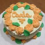 torta de crema con flores