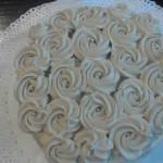 Torta de bizcocho con crema