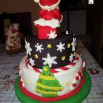 Torta viejito pascuero casa nieve