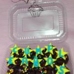 Cupcakes de chocolate para cumpleaños