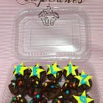 Capcakes de chocolate con estrellas