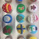 Cupcakes tematica navidad variados